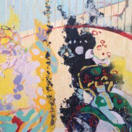 Arena 42x49 cm  gouache en collage
