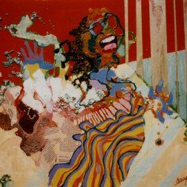 Briljant - gouache en collage - 42x49 cm