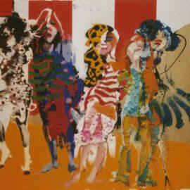 circus 42x49cm gouache en collage